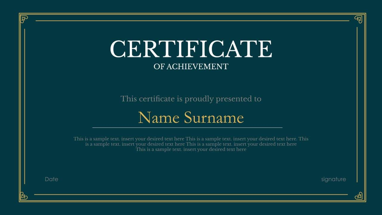 powerpoint certificate templates and google slides