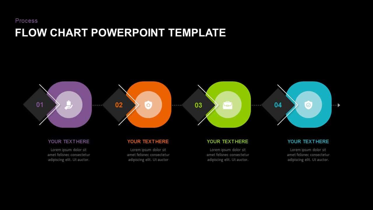 dark free process flowchart template