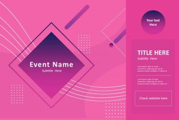 free product poster template