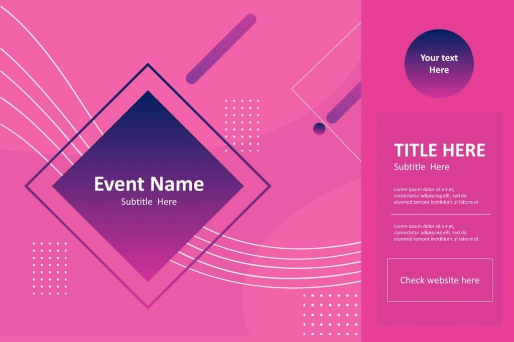 Free product poster template Google slidel