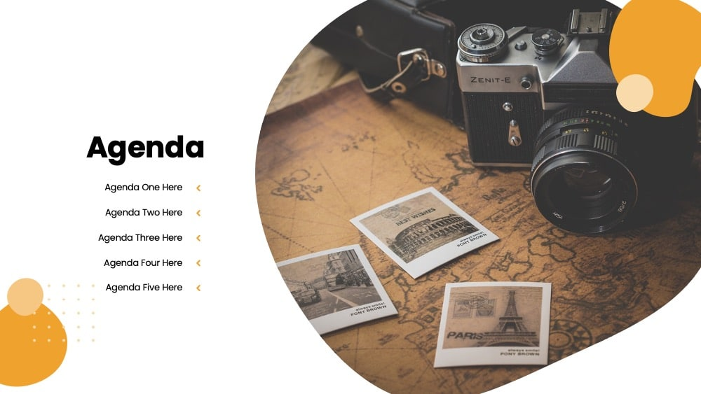 travel pitch deck Google slide theme