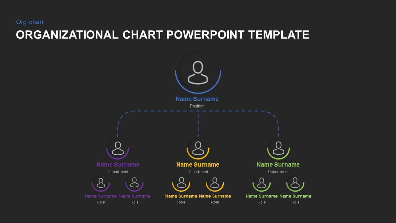 dark free organizational chart template