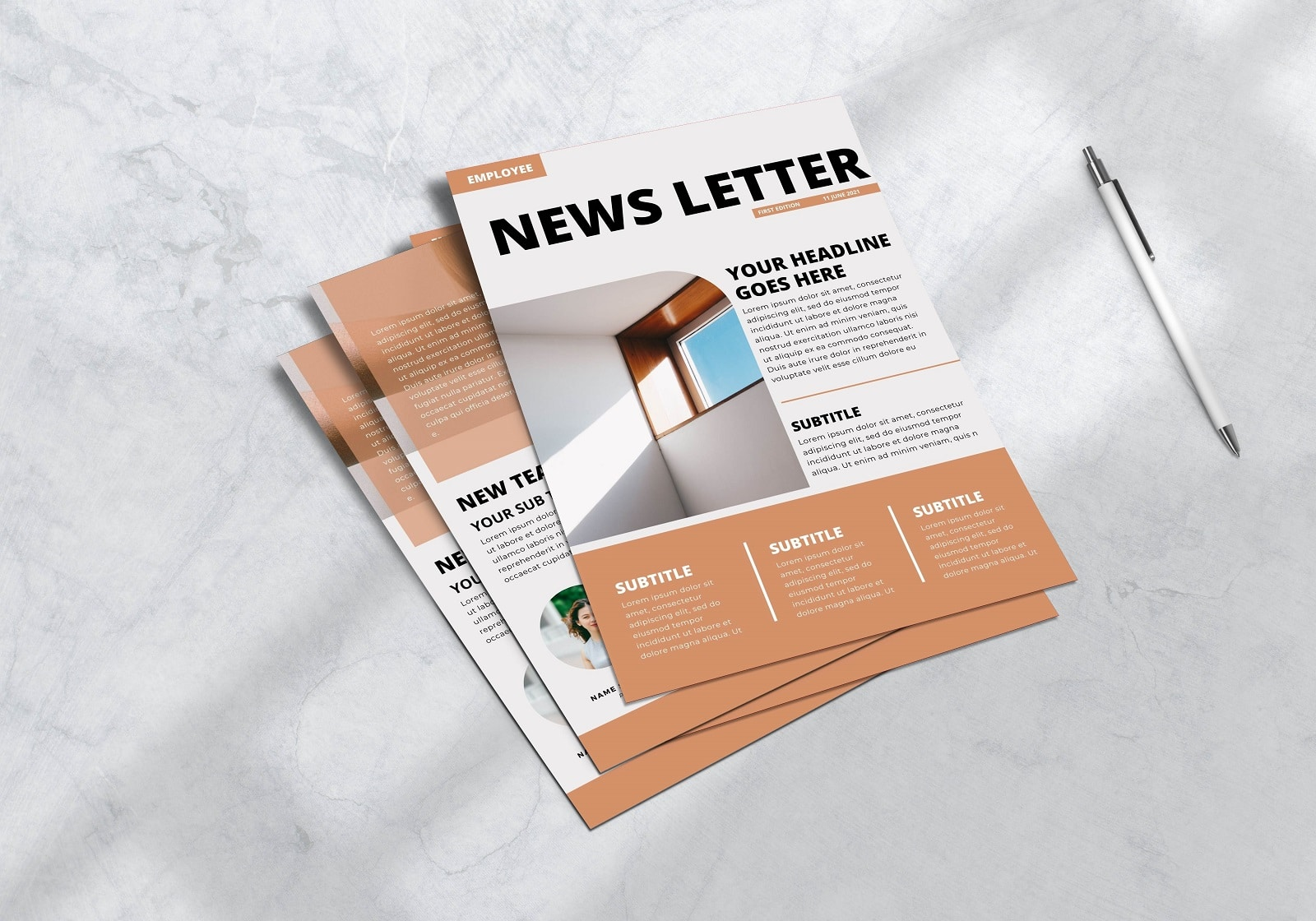 Free Canva Company Newsletter Templates