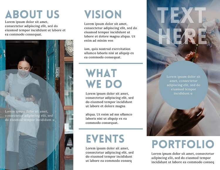 Canva Free Trifold Business Brochures