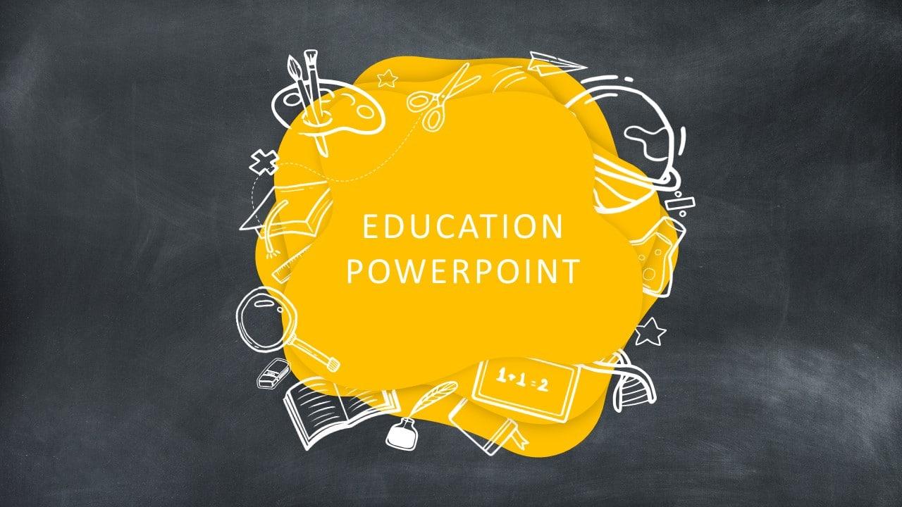 free chalkboard education deck template