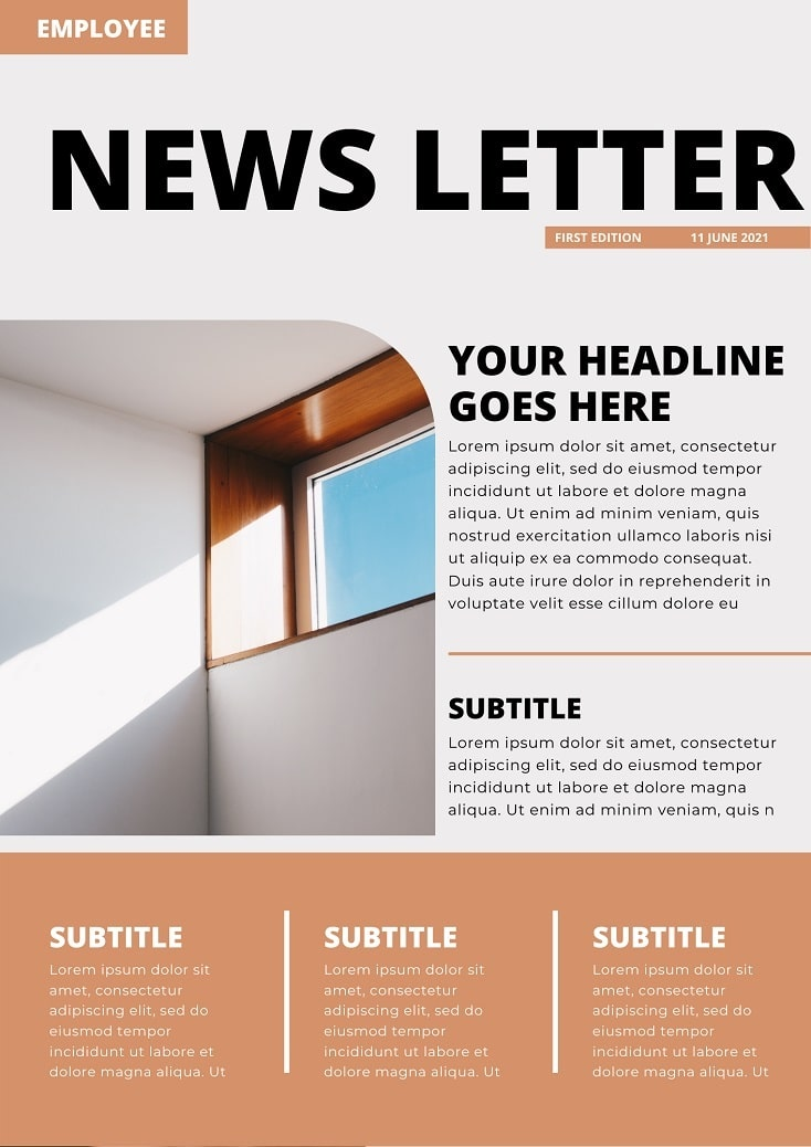 free company canva newsletter templates