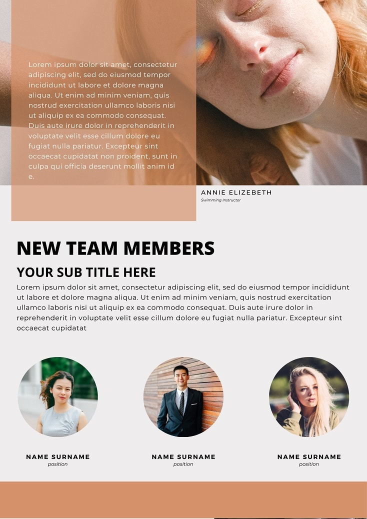 free company newsletter templates canva