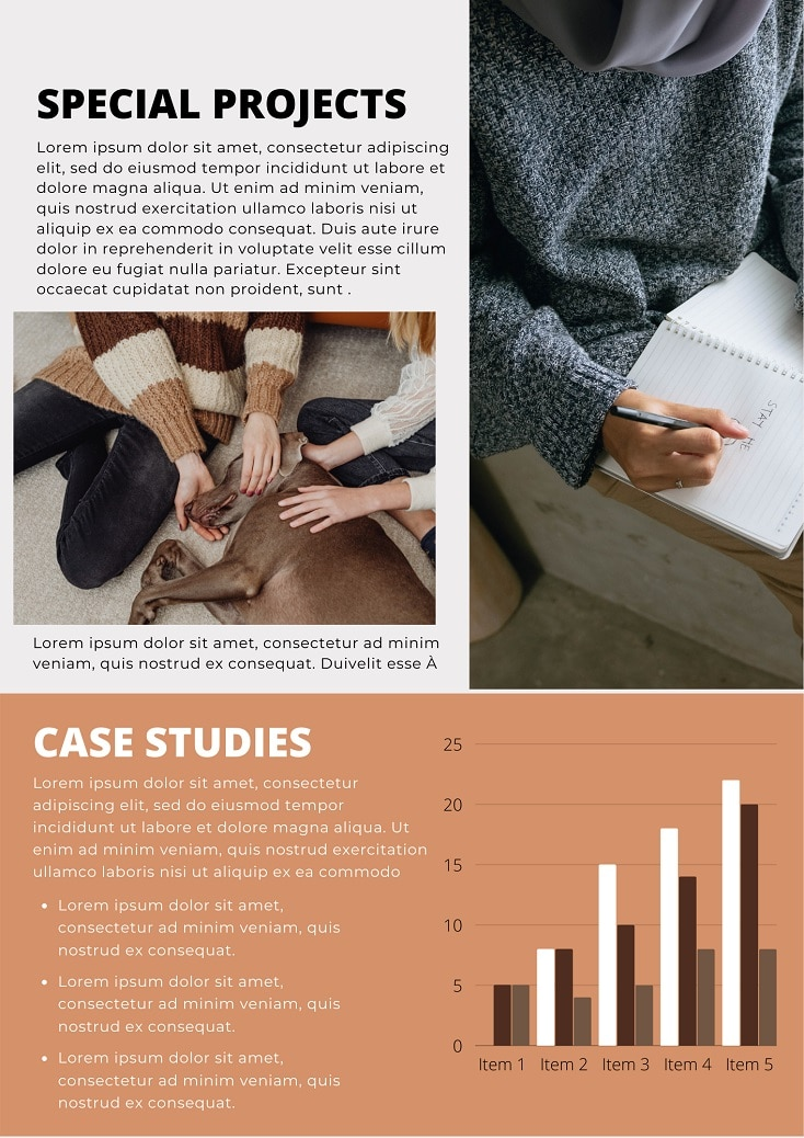 Free business canva newsletter design