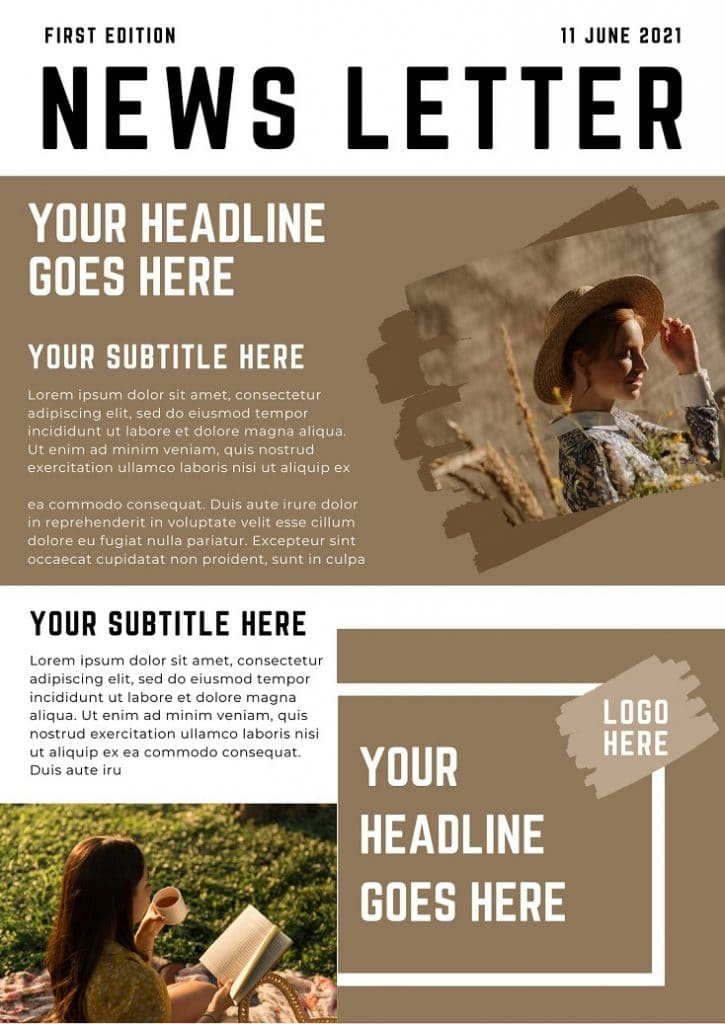 free email newsletter canva templates