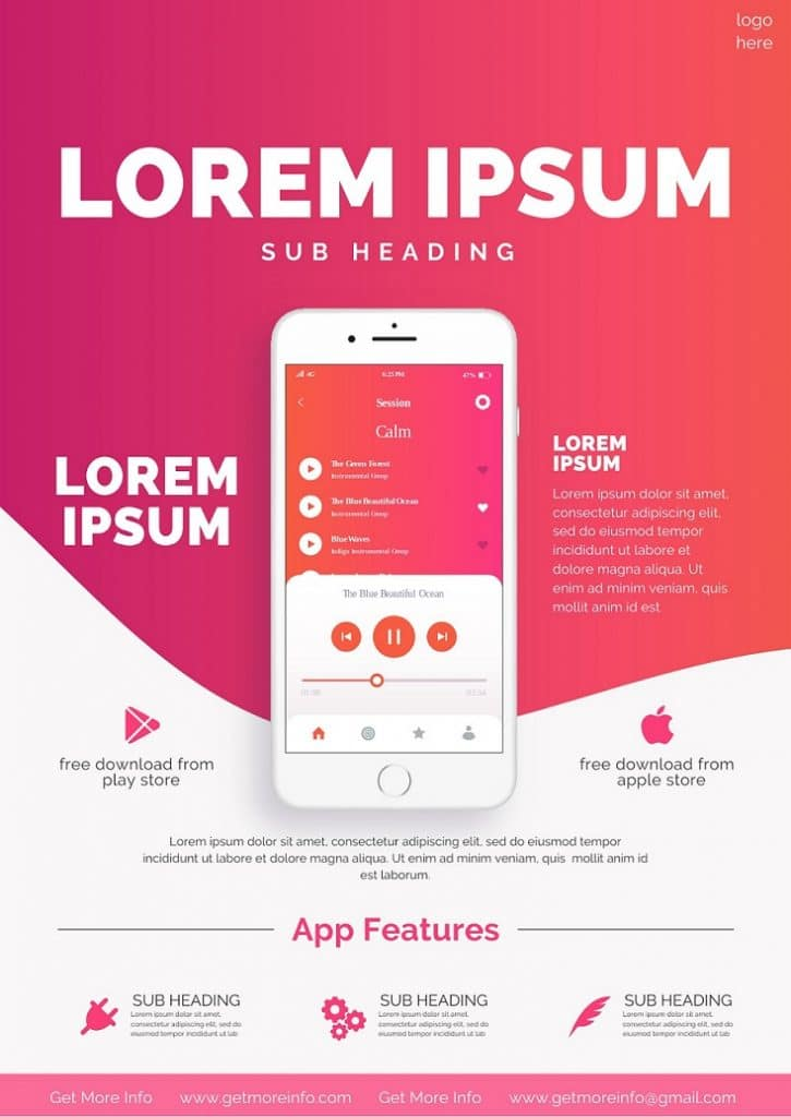 Free Canva Mobile App Flyer Template