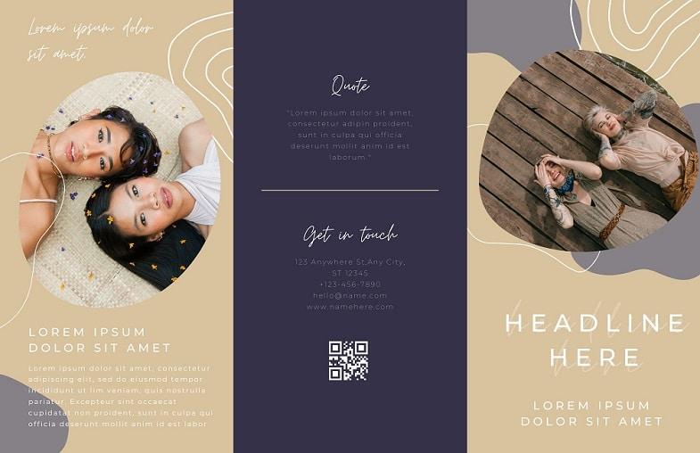 free printable professional brochure canva templates