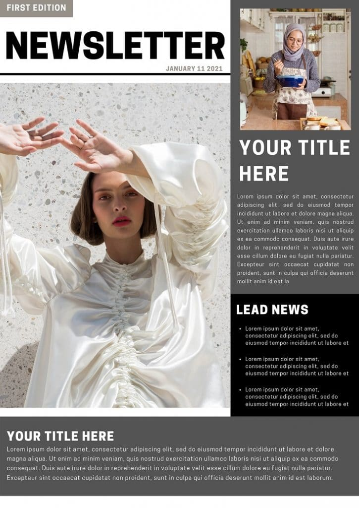 Free Professional Newsletter Canva Templates