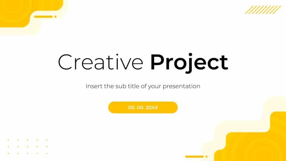 Free Creative Project Presentation Google Slides