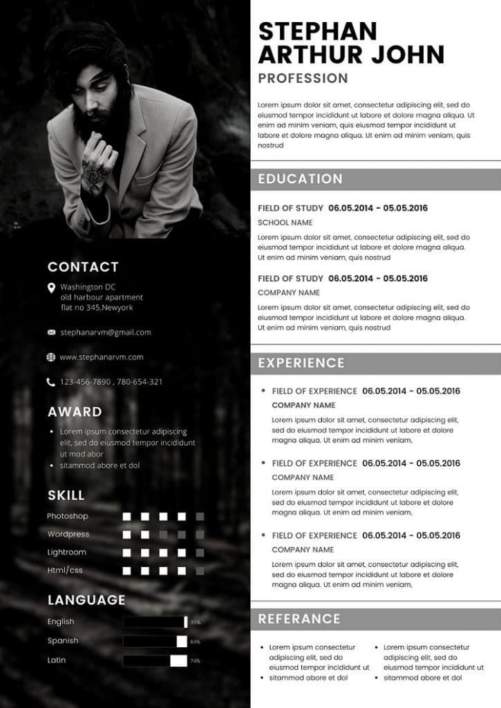 Free Canva Creative Resume Templates