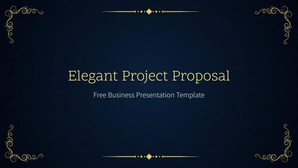 Free Google Slides Elegant Project Proposal Templates