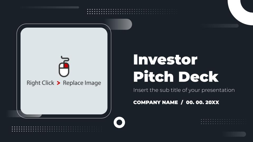 free google slides investor pitch deck template