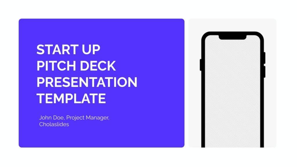 free google slides startup pitch deck template