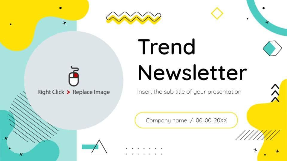 free google slides trend newsletter deck templates