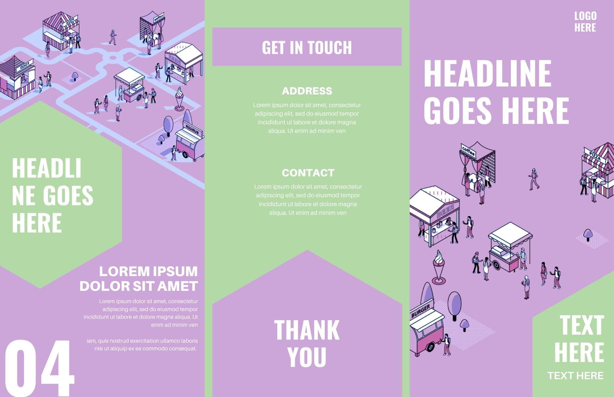 Free Simple Canva Brochure Templates