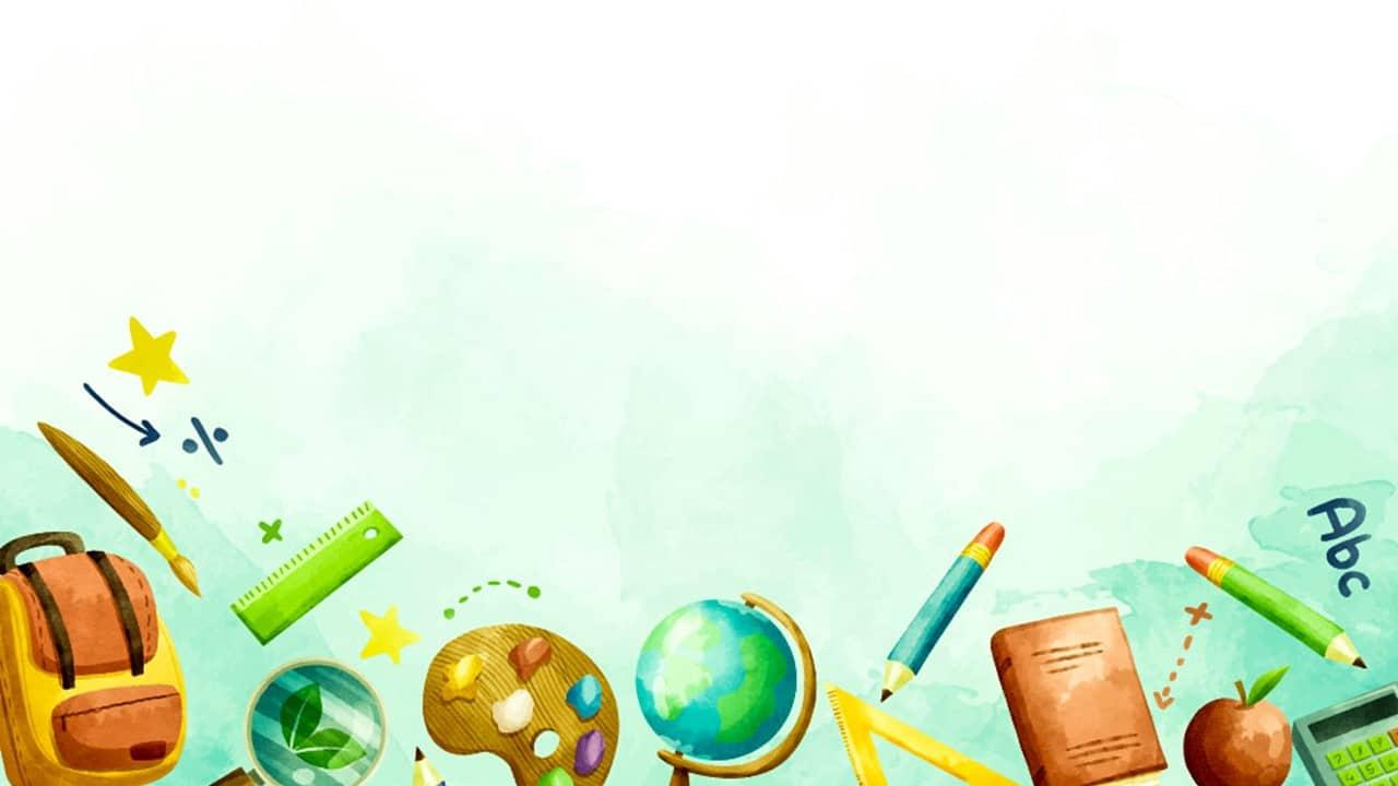 free education background design google slide