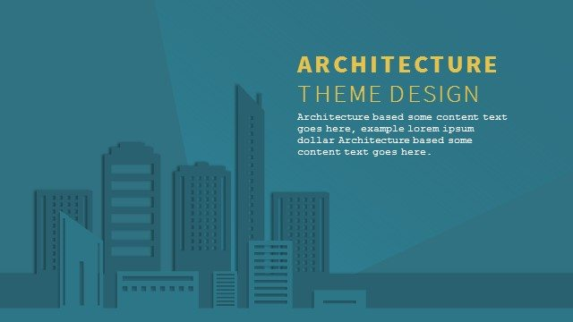Free Architecture PowerPoint Background and Theme