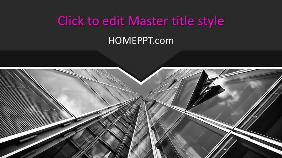 free dark architecture portfolio PowerPoint Templates