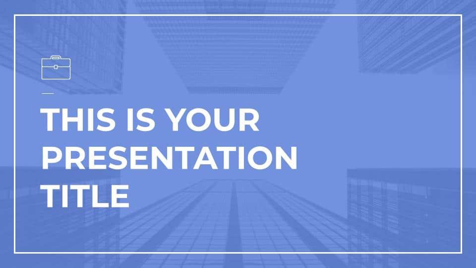 Free Google Slides Blue Architecture Templates