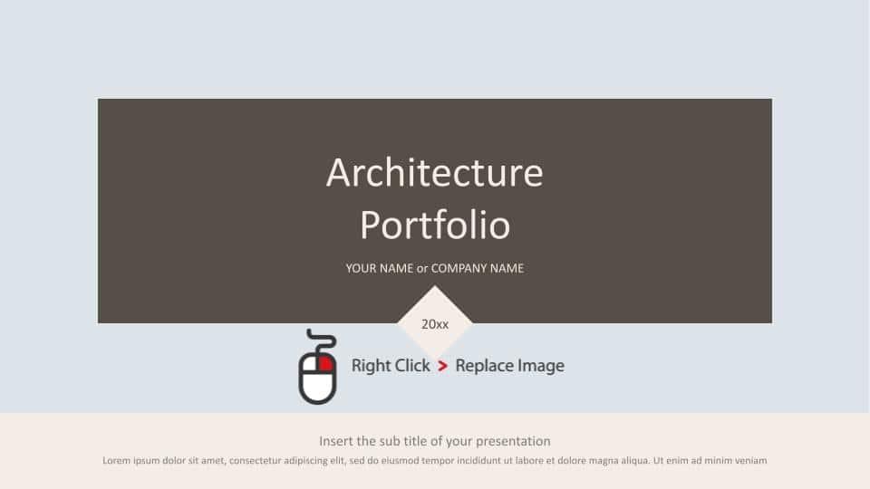 Free Google Slides Minimalist Architecture Portfolio Templates