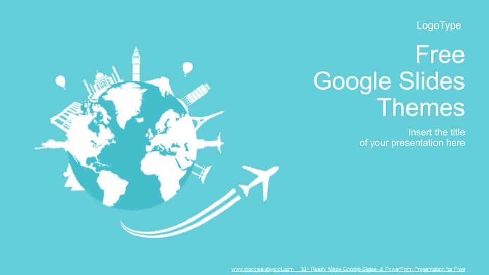 Free World Travel Concept Design Google Slides Templates
