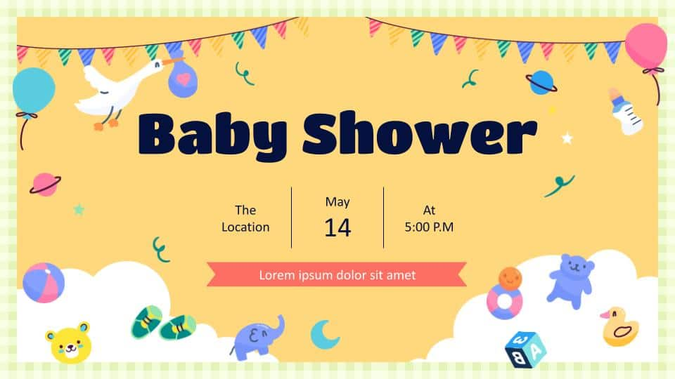 Cute Lovely Baby Shower and PowerPoint Templates
