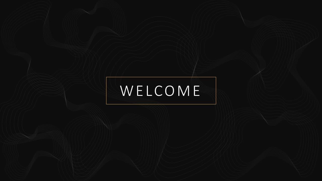 Free Google Dark Welcome Slide