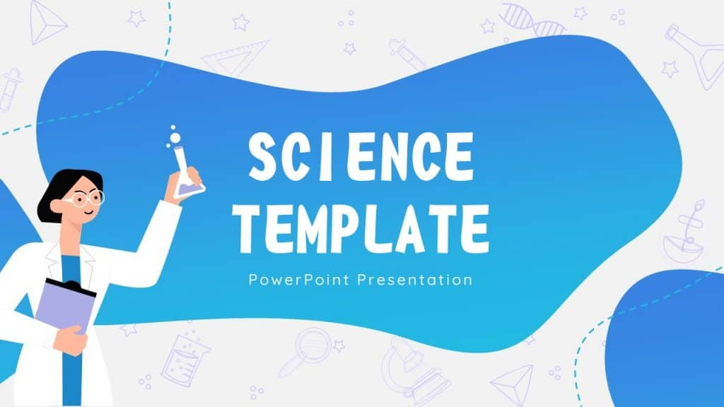 Free Animated Science cute background for ppt slides