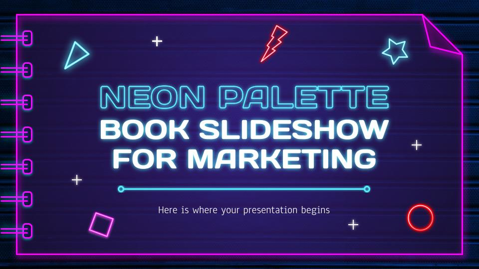 Free Animated Google Slides Neon Palette Template