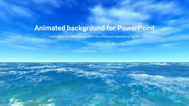 Free Animated Sea Background PowerPoint Template