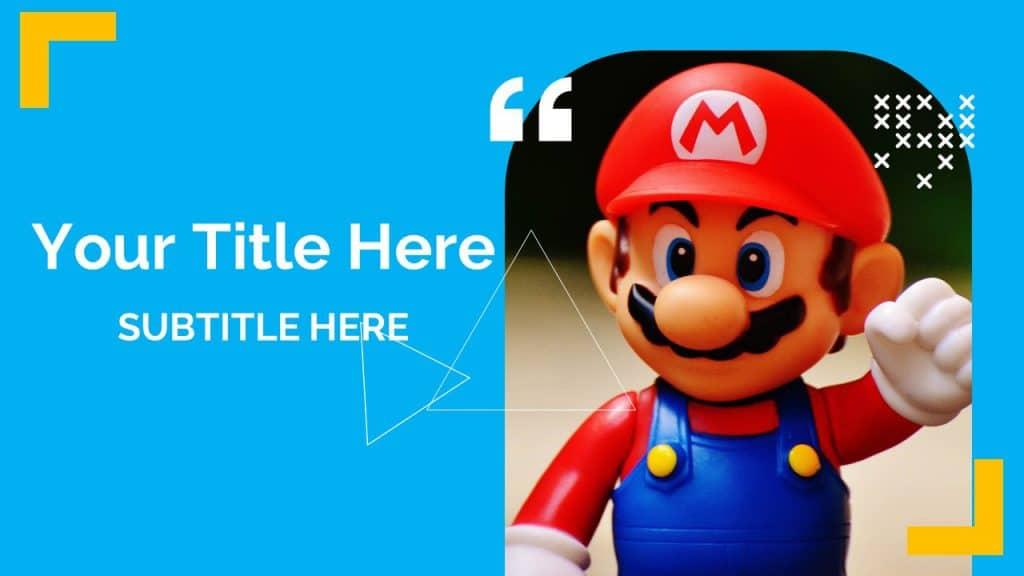 Free Mario Girly Background Google Slides Themes