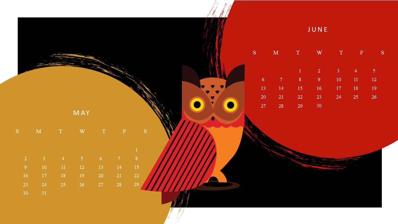 Free Google May June 2021 Calendar Template