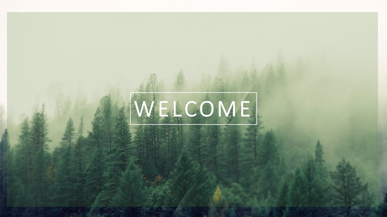 Free Welcome Slide PowerPoint Template